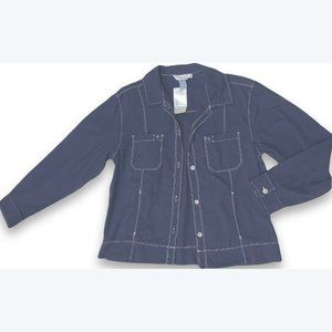 FRESH PRODUCE navy Broadcloth Jacket cotton